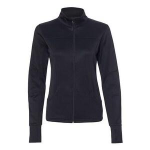 Women's Poly-Tech Full-Zip Track Jacket - Black - XL