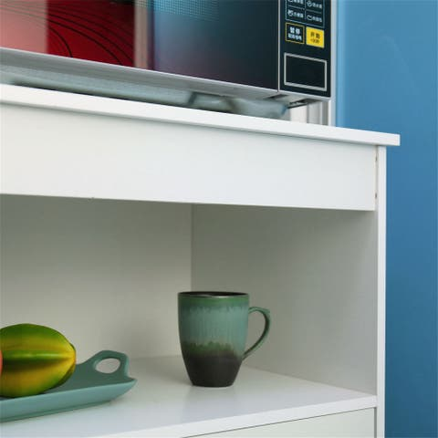 Simple Living Rolling Microwave Cabinets