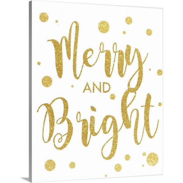"""""""Merry and Bright"""" Canvas Wall Art"""
