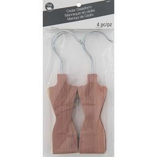 Dritz Cedar Dressform-4 Count W/ Metal Hanger - 4 count w/ metal hanger