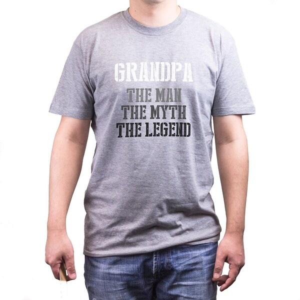 Shop Grandpa Man Myth Legend Grey Tee For Grandfather Fathers Day