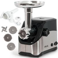Della 2000W Electric Meat Grinder 2-Speed, Reversible, w/ Blade, 3 Plates, Stuffing Tube, & Kubbe Attachment Set