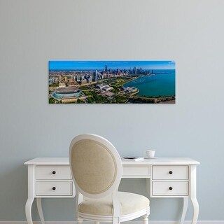 Easy Art Prints Panoramic Images's 'City at the waterfront, Lake Michigan, Chicago, Cook County, Illinois' Canvas Art