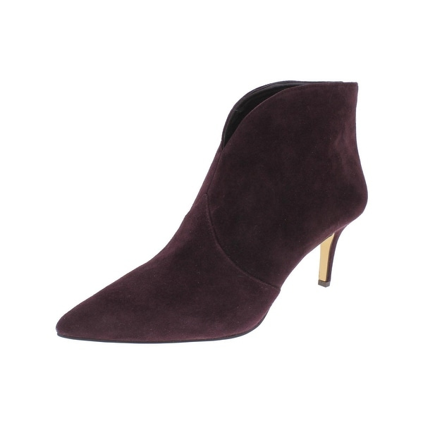 de102459035 424 Fifth Womens Darren Booties Ankle Pointed Toe Purple 9 Medium (B