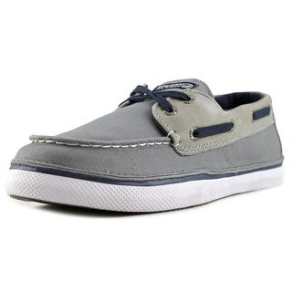 Sperry Top Sider Cruz Jr Youth Moc Toe Canvas Gray Boat Shoe