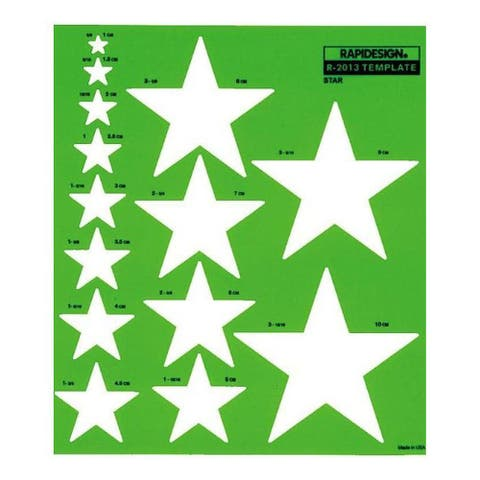 Rapidesign Metric Star Template for Drawing and Drafting
