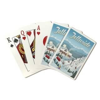 Telluride, CO - Retro Ski Resort - LP Artwork (Poker Playing Cards Deck)