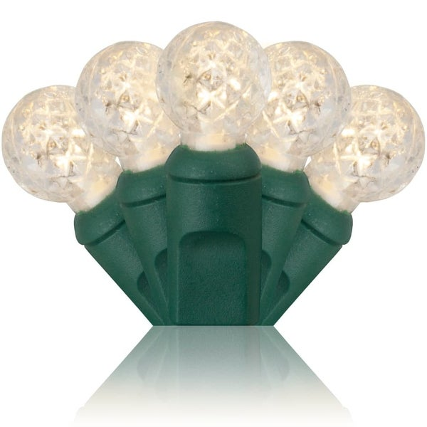 Wintergreen Lighting 71359 70 Bulb 24 Foot Long LED Decorative Holiday String Lights with Green Wire - Warm White - N/A