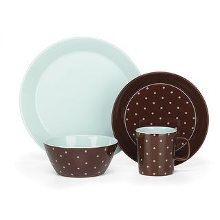 Cuisinart CDST1-S4BB Stoneware Camila Collection 16-Piece Dinnerware Sets - Brown