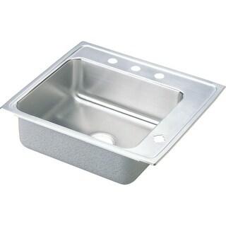"Elkay DRKR2522R 25"" Single Basin Drop In Stainless Steel Utility Sink"