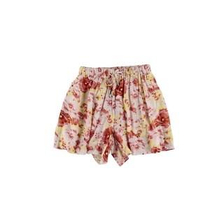 Buffalo David Bitton Womens Cyder Casual Shorts Floral Print Comfort Waist