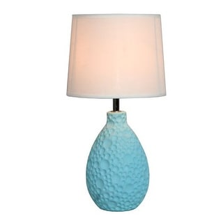 """All the Rages LT2003 Simple Designs 14.17"""" Height 1 Light Table Lamp with Cream Tapered Shade"""