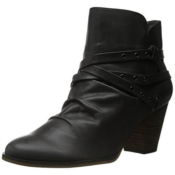 Bella Vita Womens Kiki Leather Stacked Ankle Boots