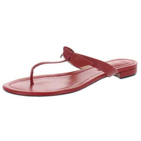 Alexandre Birman Womens Clarita Naked Flat Flip-Flops Leather Thong