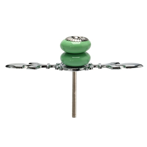 Ceramic Knobs Pull Handle Wardrobe Drawer Cupboard Cabinet Accessory Green - 1pcs
