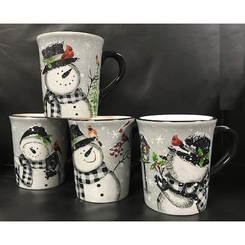 Christmas Snowmen Mugs Set of 4