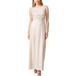 Tahari ASL Womens Kevin Evening Dress Metallic Embellished