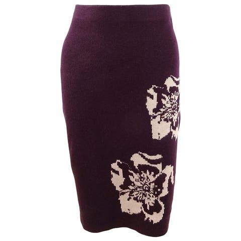 Calvin Klein Women's Printed Sweater Pencil Skirt