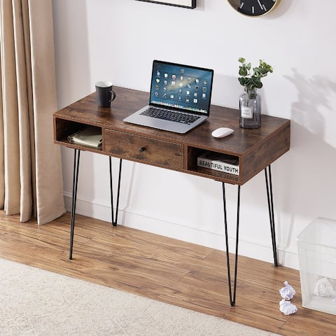 VECELO Home Office Computer Writing Desk with Drawers - Desk