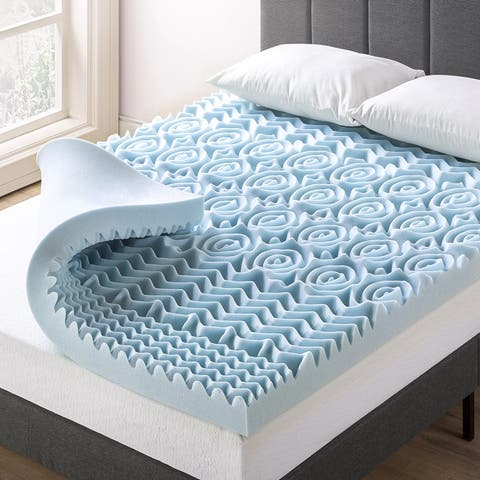 4 Inch 5-Zone Memory Foam Mattress Topper with Cooling Gel Infusion