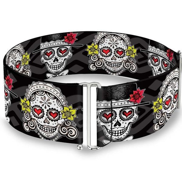 Los Novios Black Gray White Multi Color Cinch Waist Belt ONE SIZE