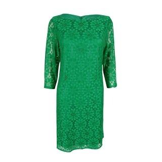 Jessica Howard Women's Three-quarter Sleeves Lace Dress - 10