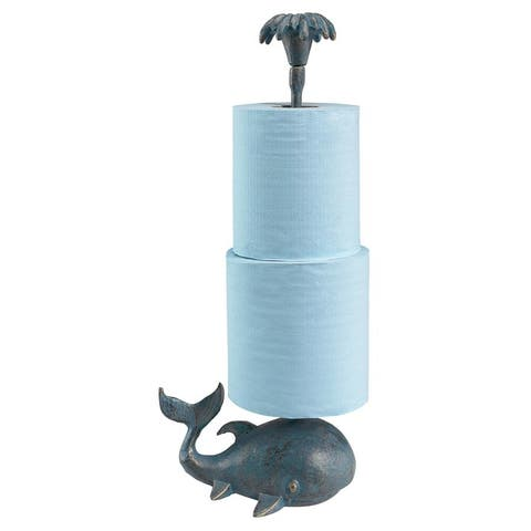 Design Toscano Whale of a Tale Sculptural Iron Paper Towel Holder