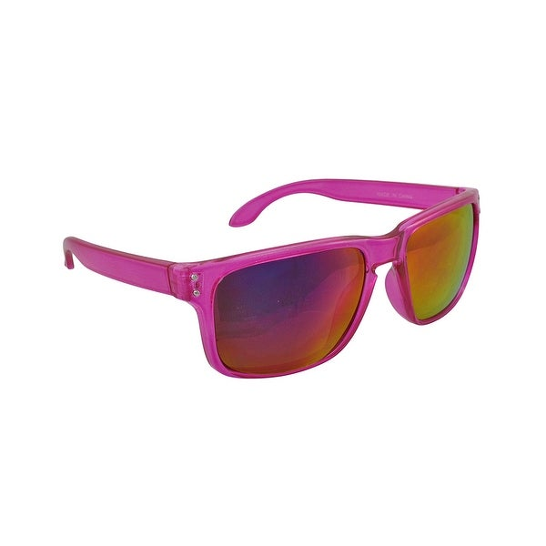 b57519efc Shop Sport Sunglasses with Clear Pink Frames/Pink Anti Glare Lenses ...