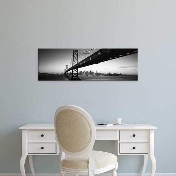 Easy Art Prints Panoramic Images's 'Bridge across a bay, Bay Bridge, San Francisco, California' Canvas Art