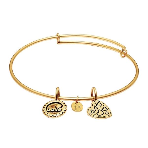 Chrysalis 'Joy' Expandable Bangle Bracelet in 14K Gold-Plated Brass - YELLOW