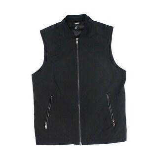 INC Blue Men's Size Medium M Sleeveless Front Zip Vest Jacket