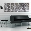 Statements2000 Silver Abstract Etched Metal Wall Art Sculpture by Jon Allen - Galactic Expanse - Thumbnail 5