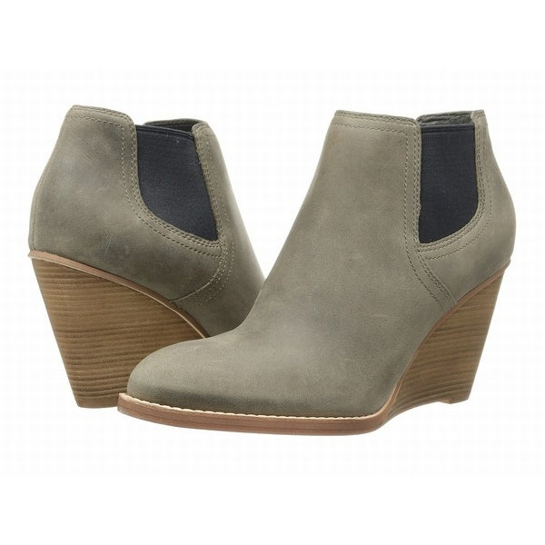 Cole Haan NEW Gray Shoes Size 11B Wedge Ankle Suede Booties