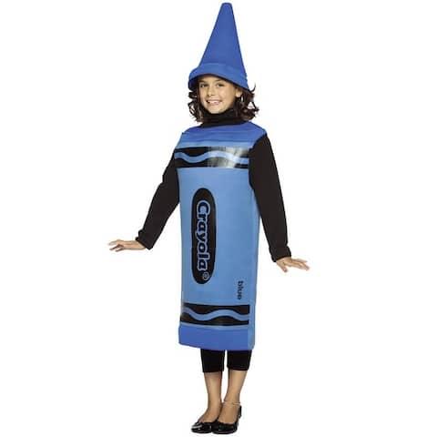 Rasta Imposta Crayola Blue Child Costume (7-10) - Solid