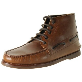 Brunello Cucinelli Mens Leather Boatstitched Chukka Boots - 42.5