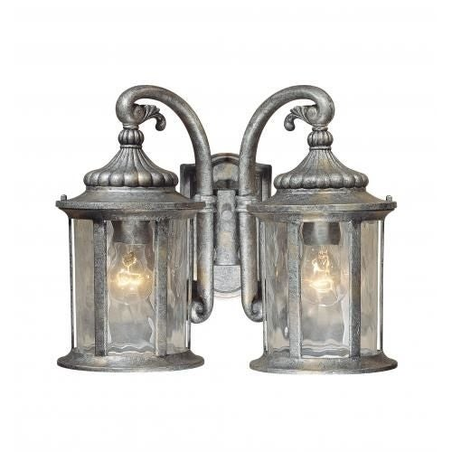 Vaxcel Lighting OW39013 Bathesda 2 Light Outdoor Wall Sconce - 15 Inches Wide
