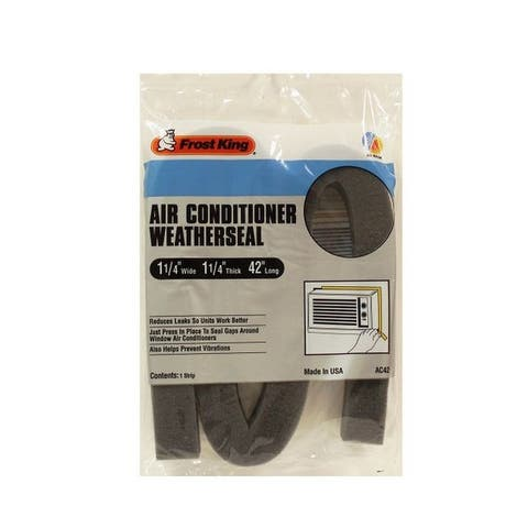 "Frost King AC42H Air Conditioner Weatherseal, 1-1/4"" x 1-1/4"" x 42"""