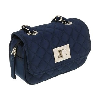 Scheilan Navy Satin Quilted Boxy Crossbody Bag - 6.5-4-2|https://ak1.ostkcdn.com/images/products/is/images/direct/9331aa24312f3ed363ddd015988c1f919f6eaa59/Scheilan-Navy-Satin-Quilted-Boxy-Crossbody-Bag.jpg?impolicy=medium