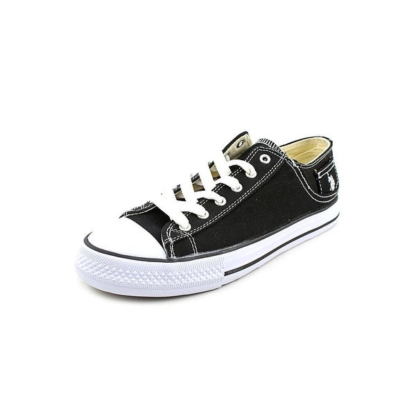 US Polo Assn Paddock Lo Men Round Toe Canvas Black Sneakers