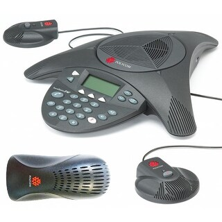 Polycom SoundStation 2 EX with 2 Mics Included 2200-16200-001 + 2200-16155-001