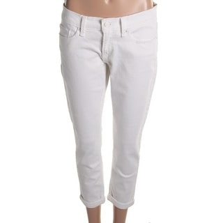 Levi's Womens Cuffed Cropped Skinny Jeans - 7