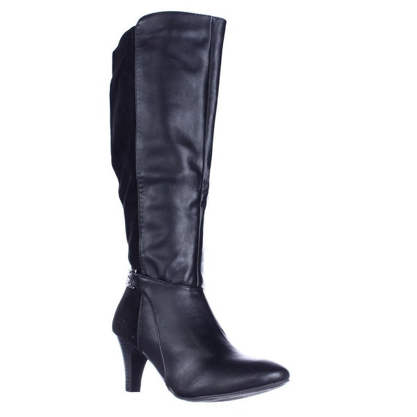KS35 Haidar Knee High Chain Boots, Black