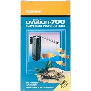 For Tanks Up To 50 Gallons - Supreme Ovation 700 Internal Filter
