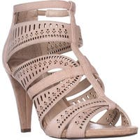 A35 Chloey Strappy Dress Sandals, Blush Suede