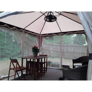 Skyline Fabric Gazebo By Christopher Knight Home On Free Shipping Today 8883593