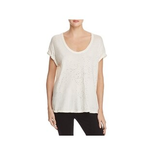 Current/Elliott Womens Casual Top Slouchy Short Sleeves
