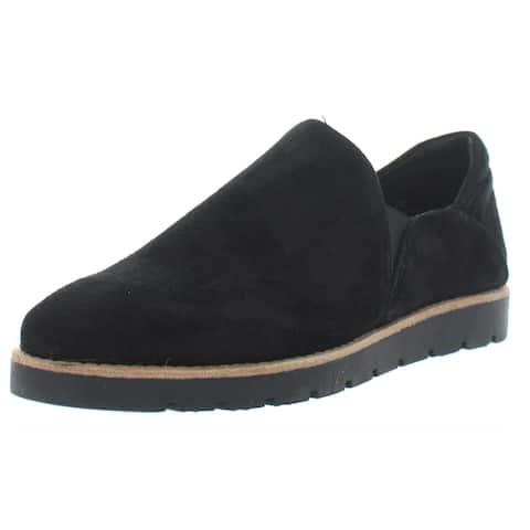 VANELi Womens Jager Loafers Suede Slip On - Black Suede
