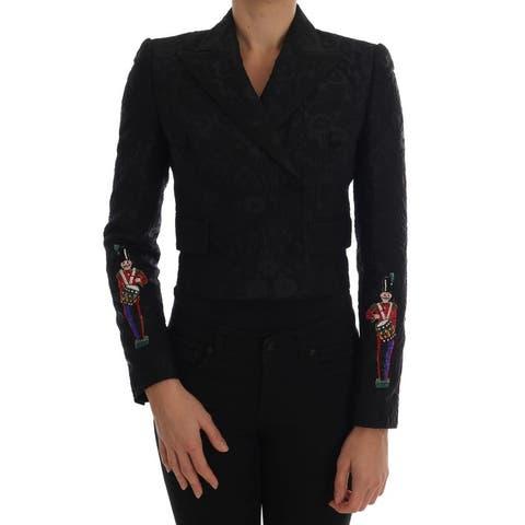 Dolce & Gabbana Black Brocade Blazer Women's Jacket