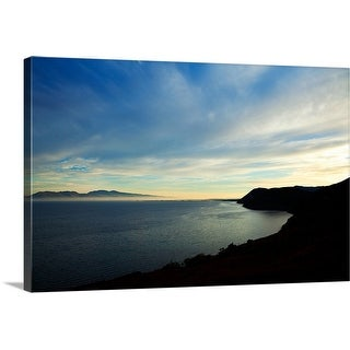 """Looking over Dingle Bay to the Dingle Peninsula from the coast road"" Canvas Wall Art"