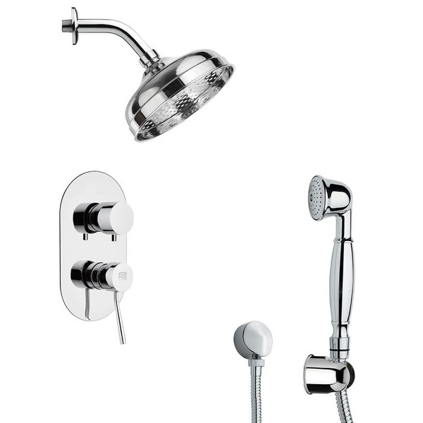 Nameeks SFH6530 Remer Shower System with Single Function Rain Shower Head, Hand Shower, Hand Shower Holder, and Rough In